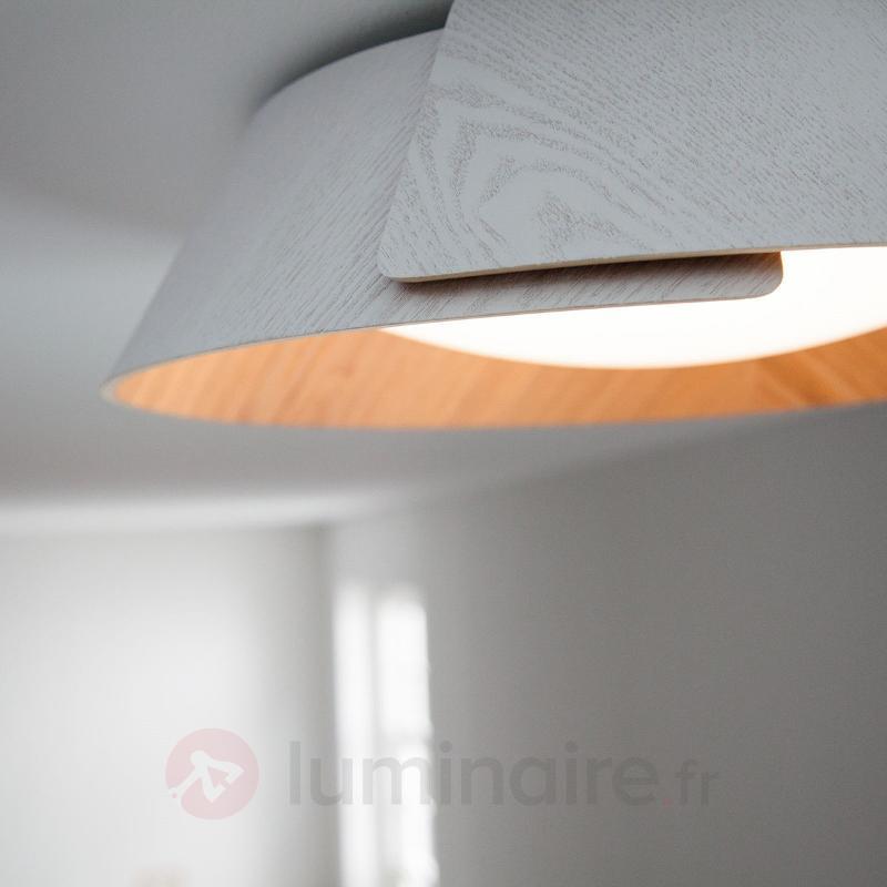 Plafonnier LED naturel Nonagon - Plafonniers en bois