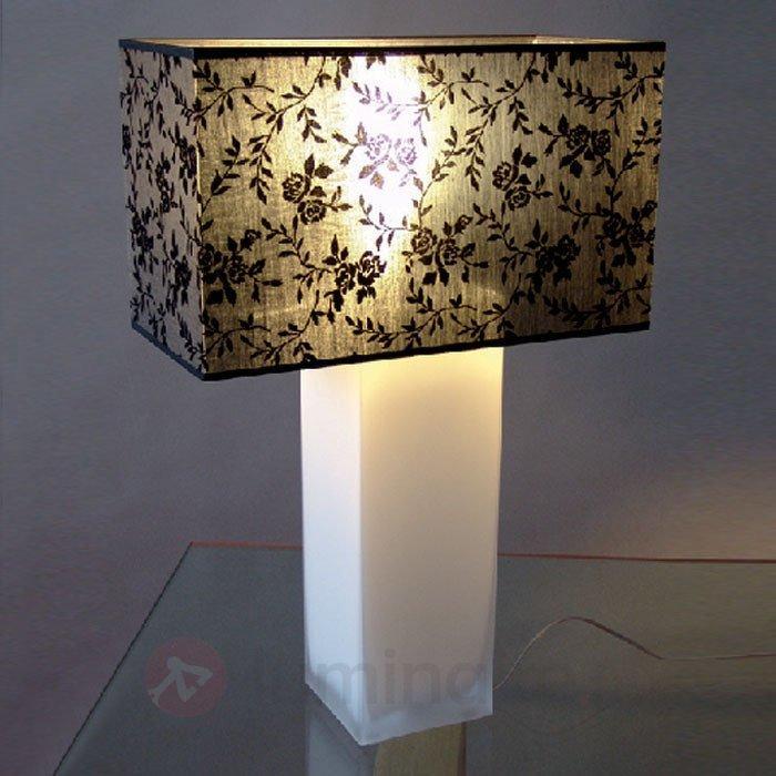 Belle lampe à poser SANDRA pied opale - Lampes à poser en tissu