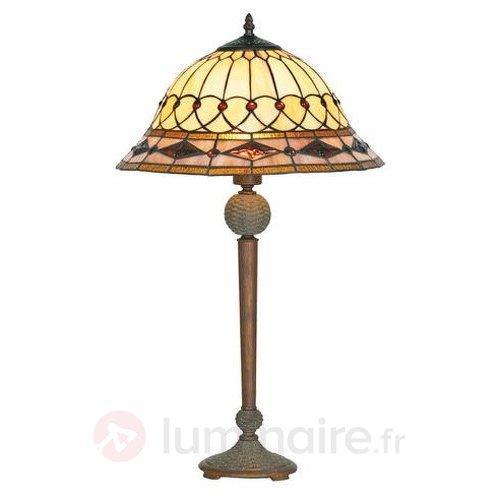 Lampe à poser Kassandra style Tiffany - Lampes à poser style Tiffany