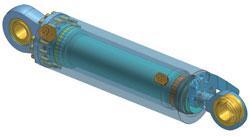 Vérins sur mesure petite & moyenne dimensions - DA double rod 95 x 75 / 50 x 32, Stroke 303 mm