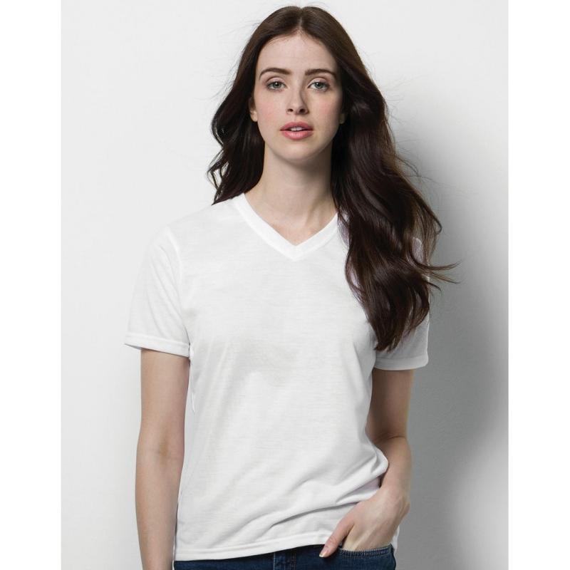 Tee-shirt femme col V Subli Plus - Hauts manches courtes