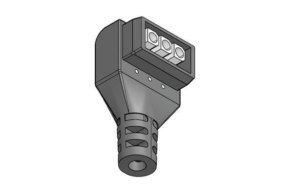 Connettore ad ingombro ridotto per alimentazione elettrica p -