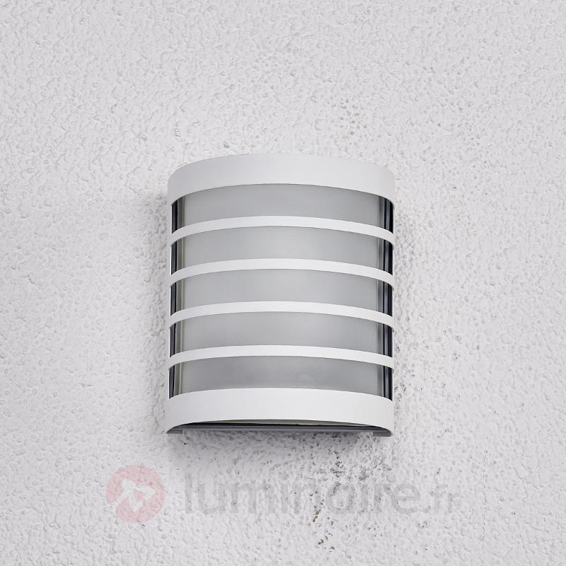 Applique d'extérieur Calin blanc à rayures - Toutes les appliques d'extérieur