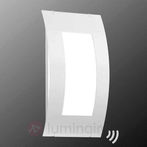 Aqua Quadrat White applique d'extérieur, capteur - Appliques d'extérieur avec détecteur