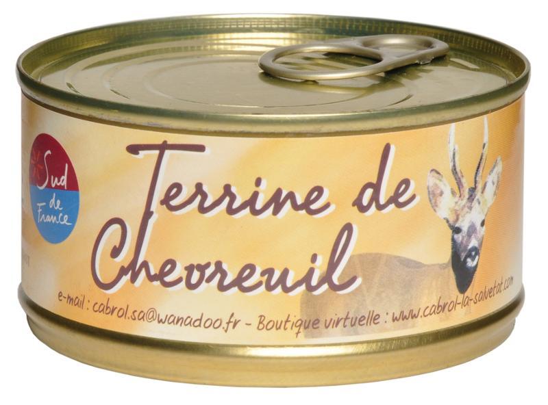 Terrine de Chevreuil (conserve) - Epicerie salée