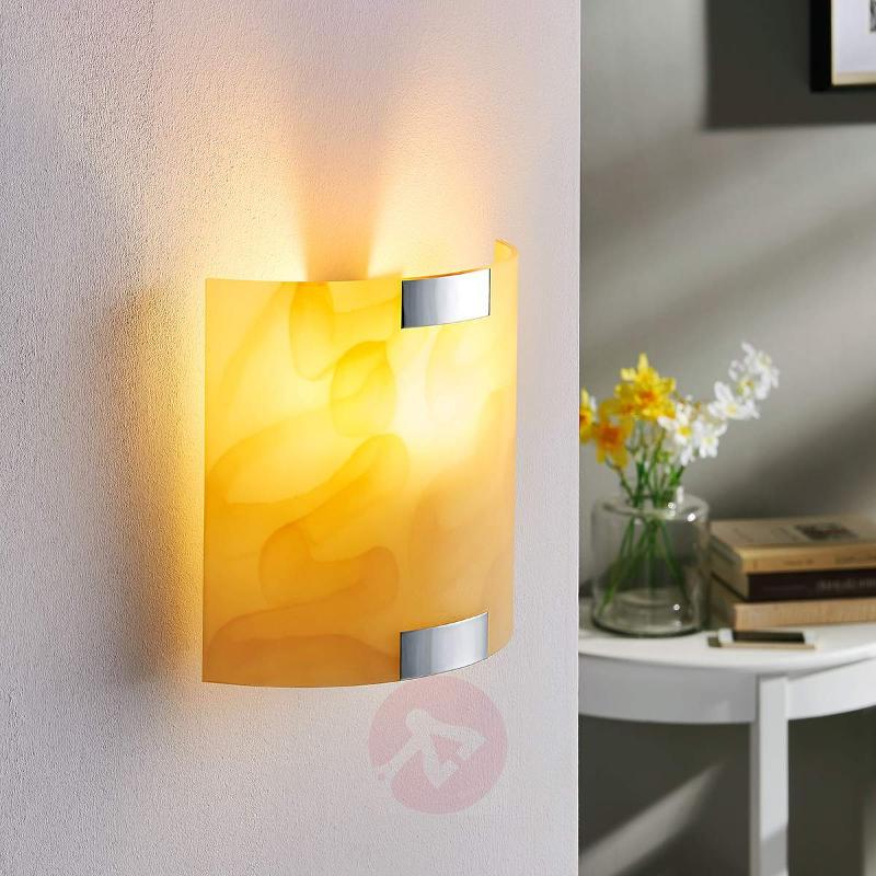 Quentin amber-coloured LED wall light - Wall Lights