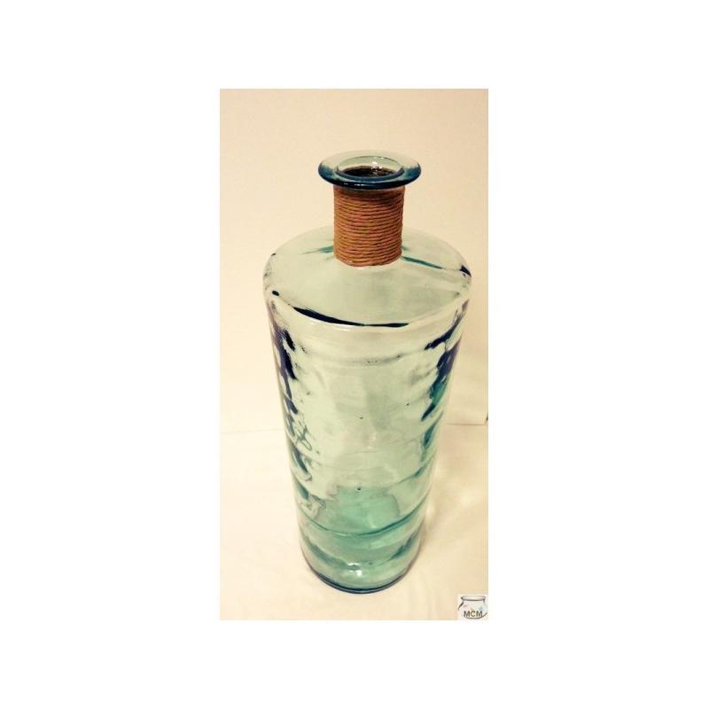Grand vase haut modèle JARRON FRANCES ENEA 75 cm, avec finition raffia - Vases, Lanternes, décoration