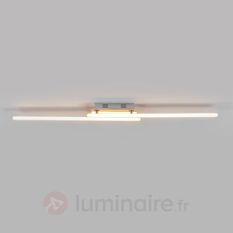 Plafonnier mince chromé Natalia avec LED - Plafonniers LED