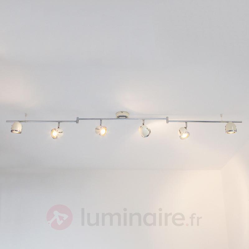 Plafonnier couleur crème Halena, à six lampes - Cuisine et salle à manger