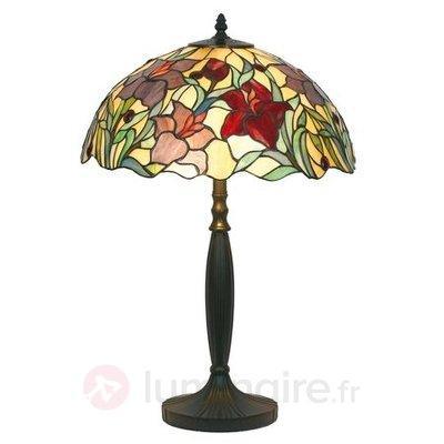 Lampe à poser ATHINA fabriquée à la main 62 cm - Lampes à poser style Tiffany