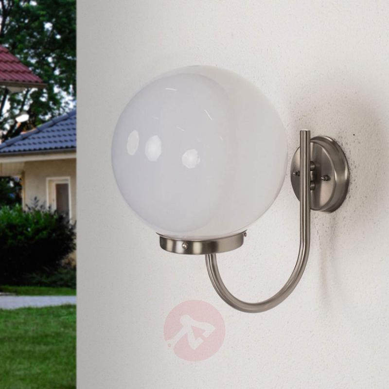 Spherical outdoor wall lamp Juella - stainless-steel-outdoor-wall-lights
