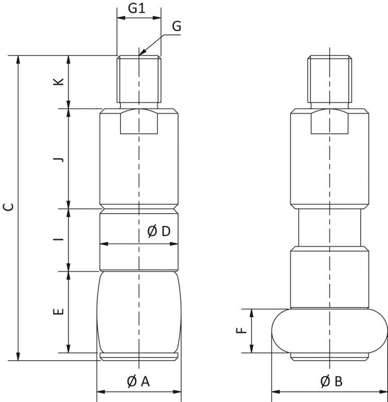Innengreifer für Durchmesser 8 bis 85 mm - null