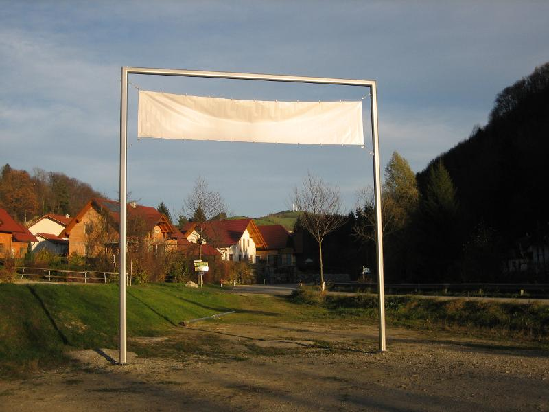 Transparent-Mastanlage Info Point Profi - null
