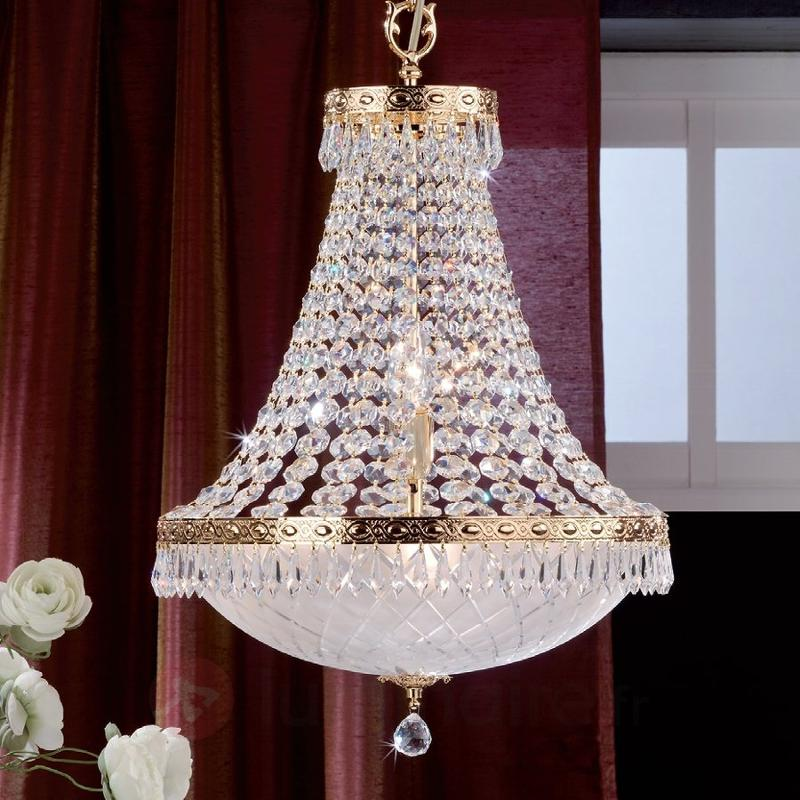 Suspension en cristal EMPIRE, dorée de 24 carats - Lustres en cristal