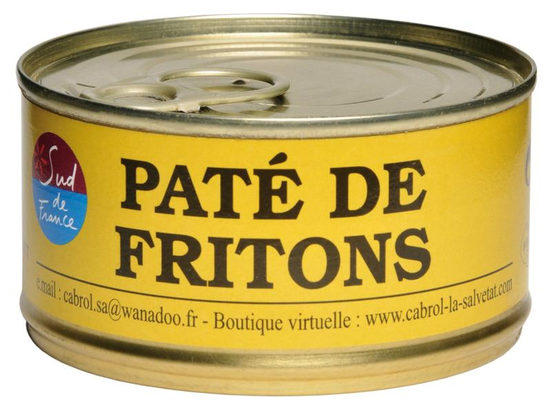 """Pâté de Fritons """"CUIT AU CHAUDRON DE CUIVRE"""" (conserve) - Epicerie salée"""
