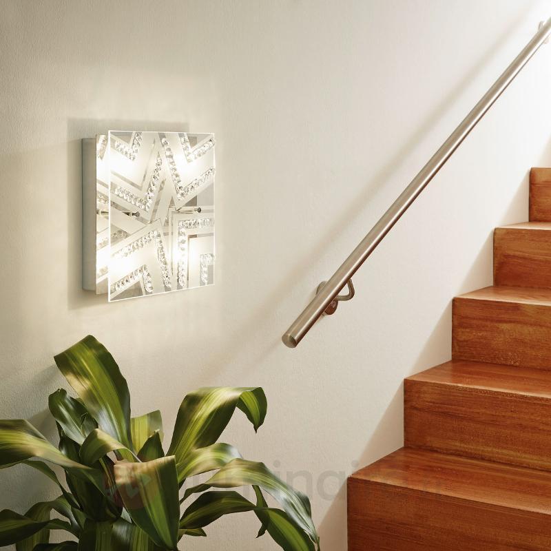 Plafonnier en cristal Tibor avec LED - Plafonniers LED