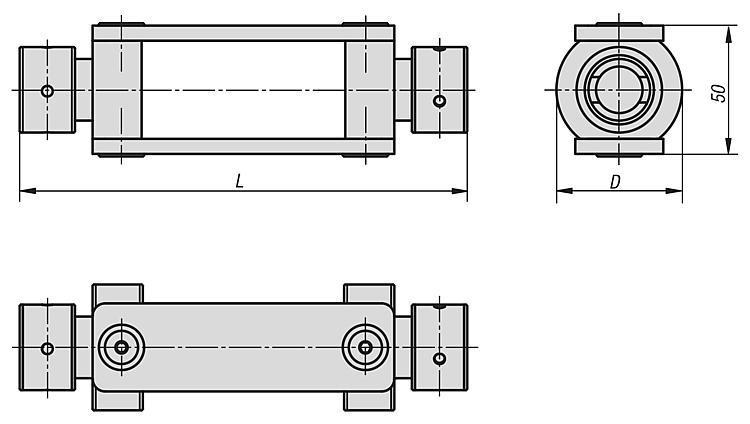 Accouplement pour serrage croisé - Etau de bridage 5 axes compact