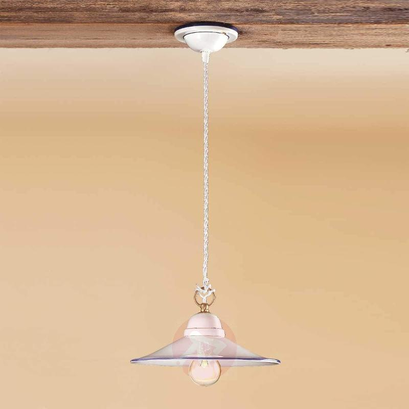 Attractive PIATTO hanging light made of ceramic - Pendant Lighting
