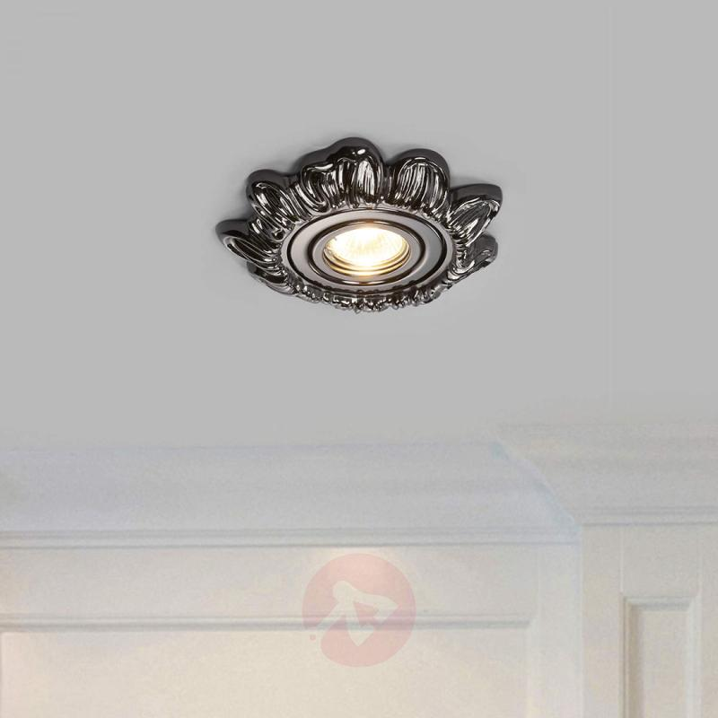 Graphite finish - recessed light Claudia - design-hotel-lighting
