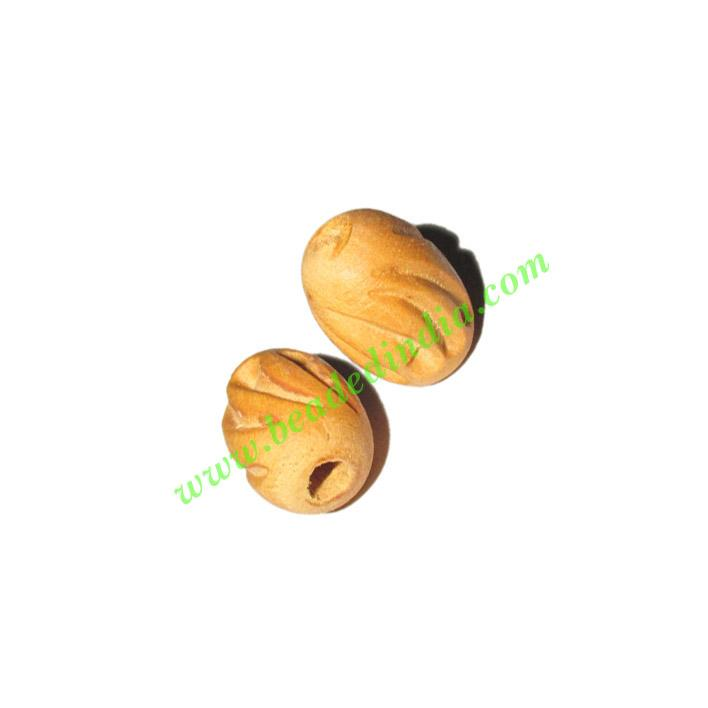 Natural Color Wooden Beads, size 12x16mm, weight approx 0.83 - Natural Color Wooden Beads, size 12x16mm, weight approx 0.83 grams