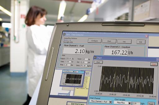 Lysis Software als Durchflusscomputer und Datenlogger