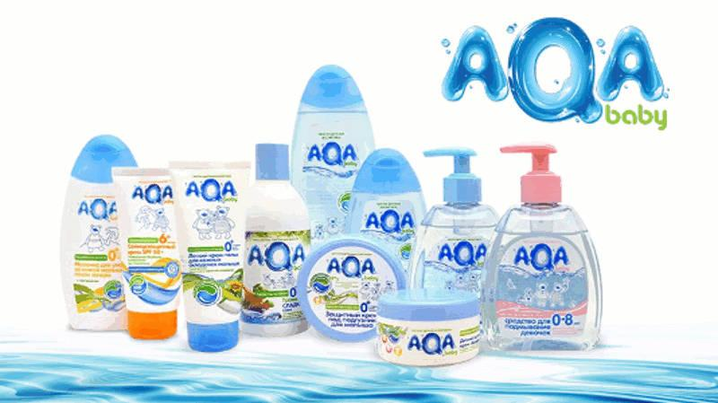 AQA baby product line absolutely pure baby cosmetics -