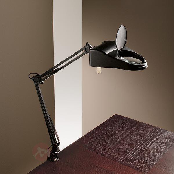 Lampe à poser LUCE avec fonction de loupe et pince - Lampes de bureau