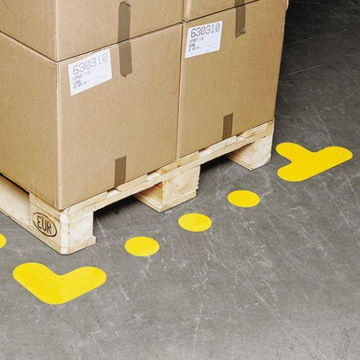 Floor marking symbol - dot, 90 mm  Ø, yellow - differend colours available