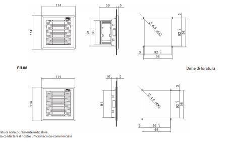 Fan08 Gruppi Di Ventilazione Con Filtro - LINEA CLIMATIZZAZIONE