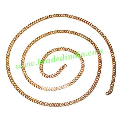 Gold Plated Metal Chain, size: 0.5x3mm, approx 51.5 meters i - Gold Plated Metal Chain, size: 0.5x3mm, approx 51.5 meters in a Kg.