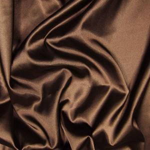 Doublure satin acétate 140 cm marron - Toiles / Doublures