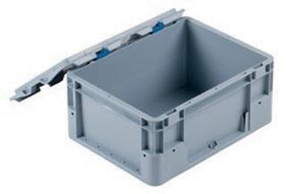 Kunststoffbehälter - DE-LINE mit Scharnierdeckel