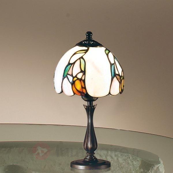 Lampe à poser classique Tiffany ISABELLA petit - Lampes à poser style Tiffany