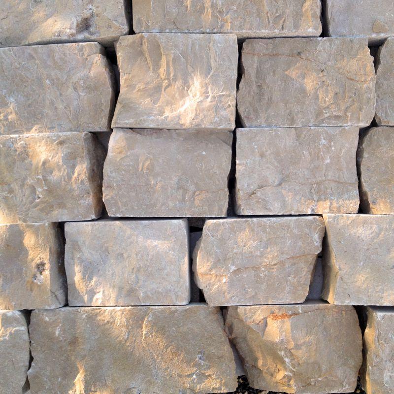 revêtement de mur - parement Calcaire crème ivoire 15-30 cm X 10 X 3-6 cm