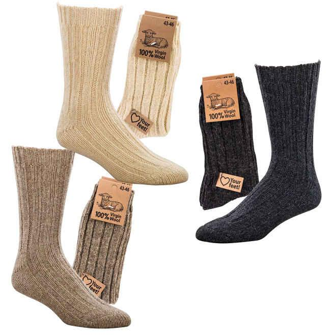 6587 - 100% Virgin Wool - Beautifully soft and warming those socks are made of 100% pure virgin wool!
