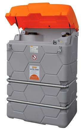 CUVE-STATION RECUPERATION HUILES USEES 1000 L pour extérieur - CDP1000 CUBEHUC Cuves de stockage et stations de distribution de carburant