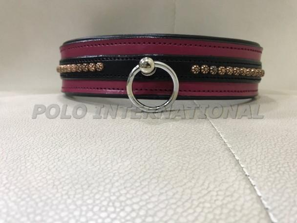 Leather dog collar - Ring style dog collar