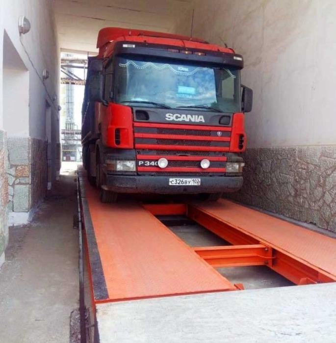 """Lastbilsvågar """"Vityaz"""" - Lastbilsvågar """"Vityaz"""" av statisk vägning - fundament"""