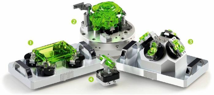 Flach Zentrierspanner - Universelles Spannelement. Hydraulischer Spannstock bis 200 bar.