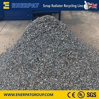 Auto AC cooling radiator shredder recycling line and plastic - Recycling Plant,99.9% copper recovery , fully automatic ,plastic crusher