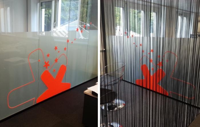 Lettrage - lettrage vitrine decoration murale