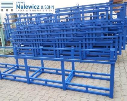 Langgutgestelle schachtelbar - Langgutgestelle 3700x795x740 mm blau lackierte Oberfläche