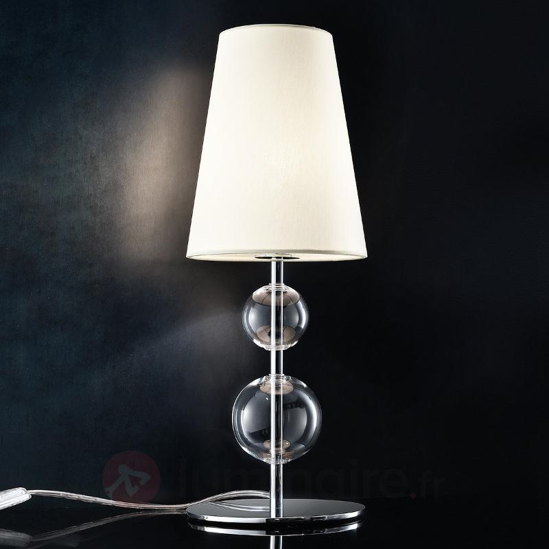 Lampe à poser Ginger 2 avec pied chromé - Lampes de chevet
