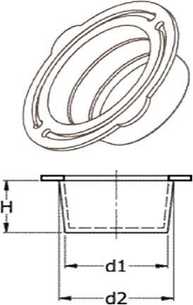 N27 Bouchons coniques double collerette - Bouchons lisses pour taraudages et axes