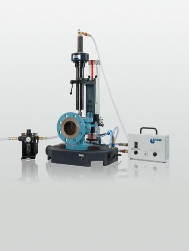 Schleif- und Läppmaschine für Sicherheitsventile - TSV - Pneumatische Schleif- und Läppmaschine für Sicherheitsventile - TSV