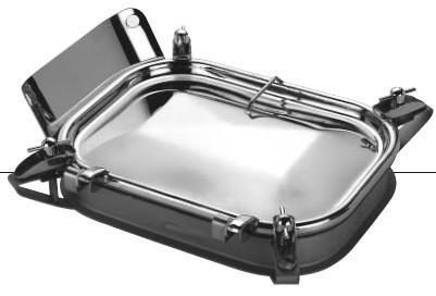 Rectangular sealing lids - Series 43
