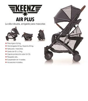 Silla de paseo para bebes y niños amigable para mascotas  - Marca keenz silla de paseo ligera