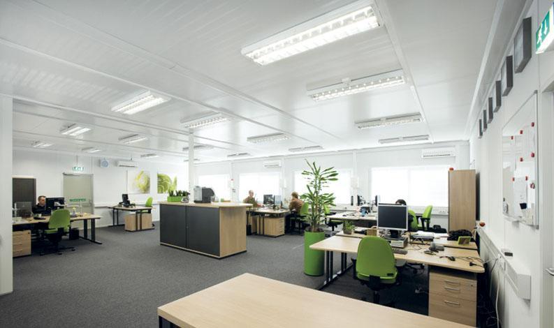 Constructions modulaires de 110 à 1000 m² - Découvrez la gamme de bâtiments préfabriqués Portakabin pour des surfaces de