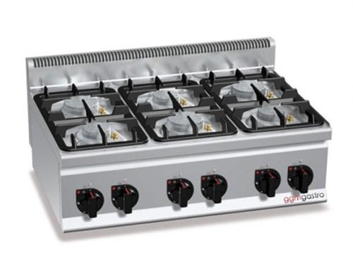 Stove - Gas stove 6xBrenner ( 28.5 kW) with pilot flame