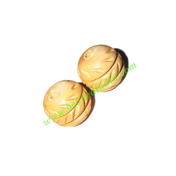 Natural Color Wooden Beads, size 16x18mm, weight approx 1.98 - Natural Color Wooden Beads, size 16x18mm, weight approx 1.98 grams